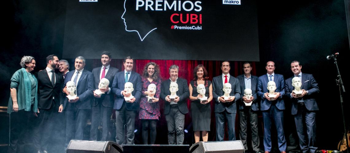 Imagen de todos los galardonados en los Premios Cubi.